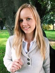 Portrait einer hübschen Blondine