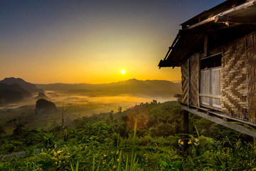 Doi Phulangka at sunrise, Province Phayao
