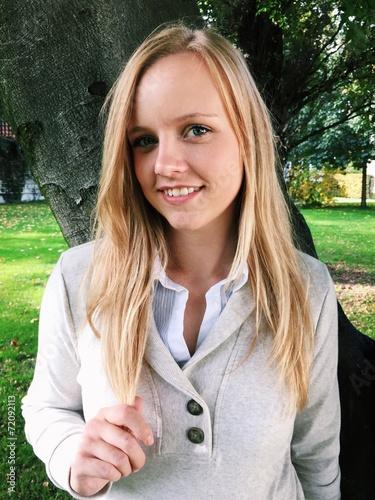 canvas print picture Portrait einer hübschen Blondine