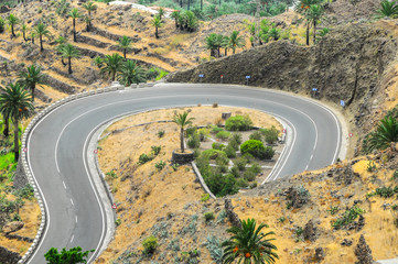 View of Valle Gran Rey La Gomera