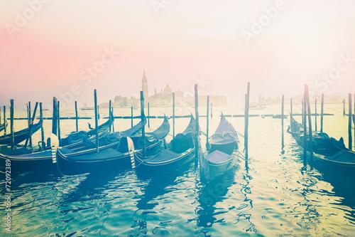 Fotobehang Gondolas Venedig