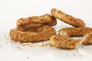 Turkish Bagel Simit with Sesame