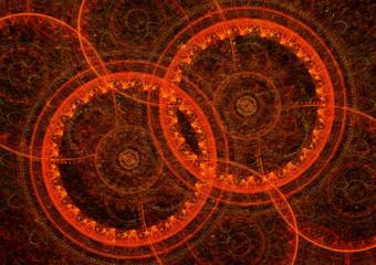 Hot abstract circles