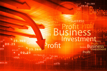 Business arrow graph background