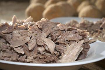 boiled of turkey