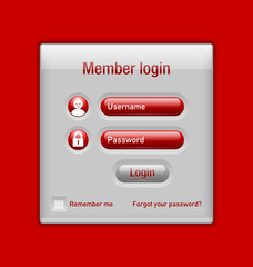 Member login website element