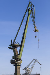 Great, green shipbuilding crane