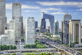 Fototapety Beijing, China Financial District Cityscape