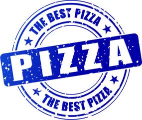 blue pizza stamp