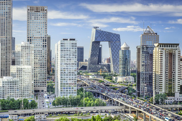 Beijing, China Financial District Cityscape