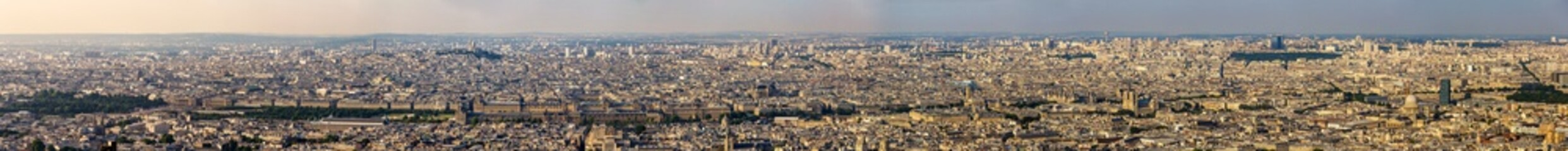 Panorama of the centre of Paris from the Maine-Montparnasse