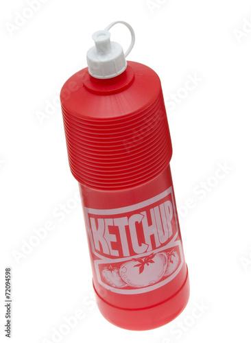 Leinwandbild Motiv Ketchupflasche