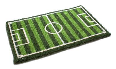 Fußmatte mit Fussballfeld