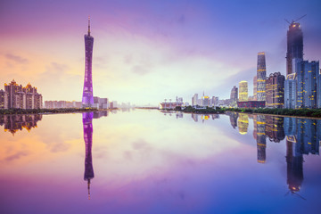 Guangzhou, China City Skyline