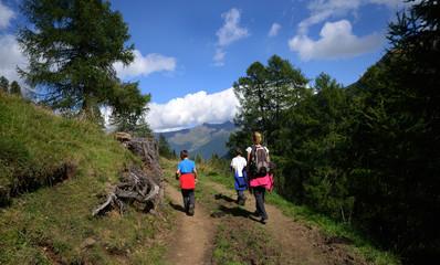 paseggiare in montagna