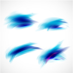 abstract blue brush paint style element, vector illustration