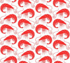 Shrimp. Pattern