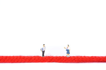 赤い糸と人間