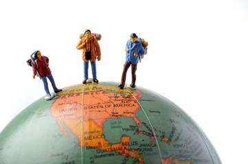 地球儀と冒険者