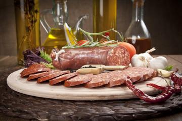 Sausage ( Turkish Sucuk ) concept photo