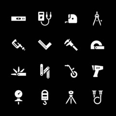 Set icons of measuring tools