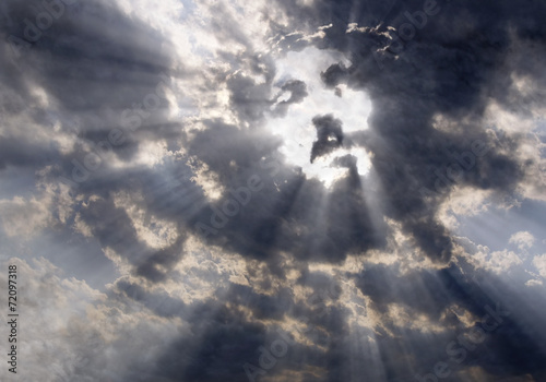 The face of Christ in the sky - 72097318