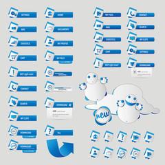 Blue monster button pack