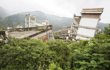 Abandoned earthquake ruins