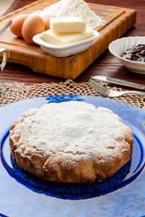 Torta casalinga di pastafrolla farcita con marmellata
