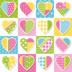 hearts collection patchwork pattern