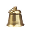 Classic gold bell on a white background - 72098319