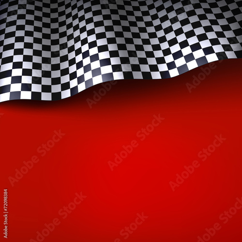 Poster Checkered flag