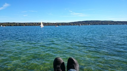 Entspannung am see