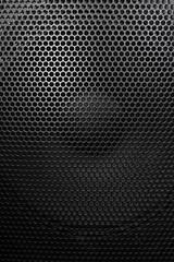 loudspeaker grid with round openings