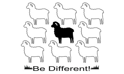 Sheeps in vector formats for T shirt design