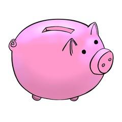 piggy bank color