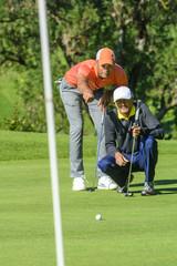 Golfer beraten sich