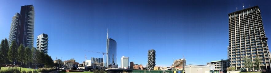 Skyline grattacieli Milano, Porta Nuova, Italia, panoramica