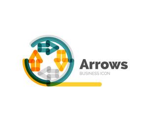 Line minimal design logo arrows