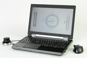 Laptop mit Zeichnung