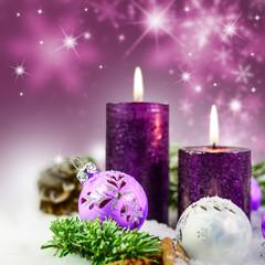 Weihnachtskerzen in Burgund
