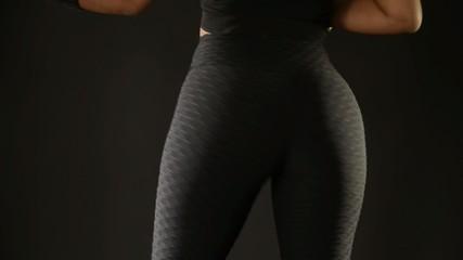 Sensual woman twerking