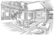sketch of interior - 72100357