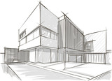 Architecture sketch of building - 72100355