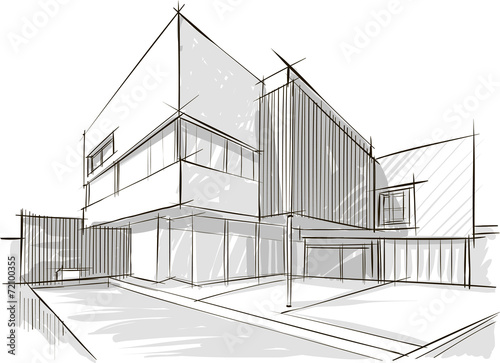 Architecture sketch of building