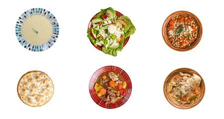 Food set American cuisine
