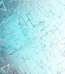 Abstract blue background, geometry, lines design