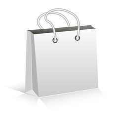 Empty Shopping Bag on white for advertising and branding