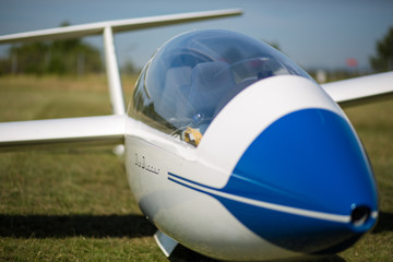 Segelflugzeug Cockpit außen