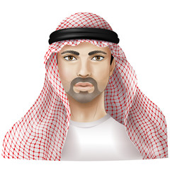 Man dressed in keffiyeh
